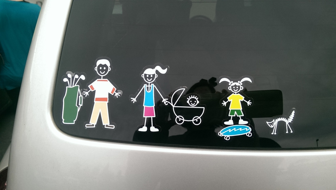 #Australia stick family car sticker tacky kitsch be kitschig blog