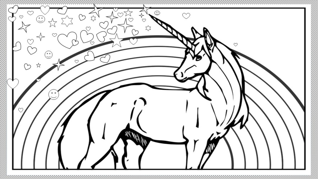 #unicorn #coloring in