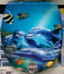 #toilet seat #kitsch #dolphin