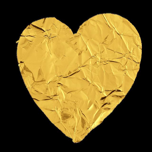 #heart #gold