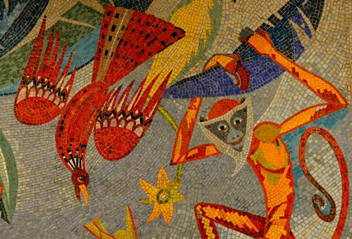 Mosaik Berlin mosaik berlin tierpark affe be kitschig