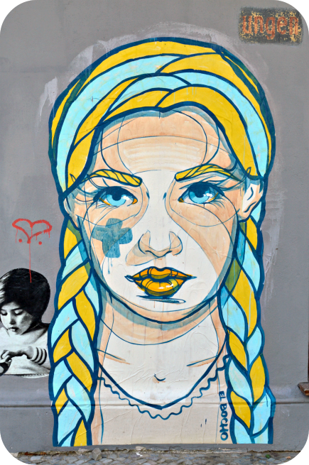 streert art Berlin be kitschig banksy oderbeger strasse