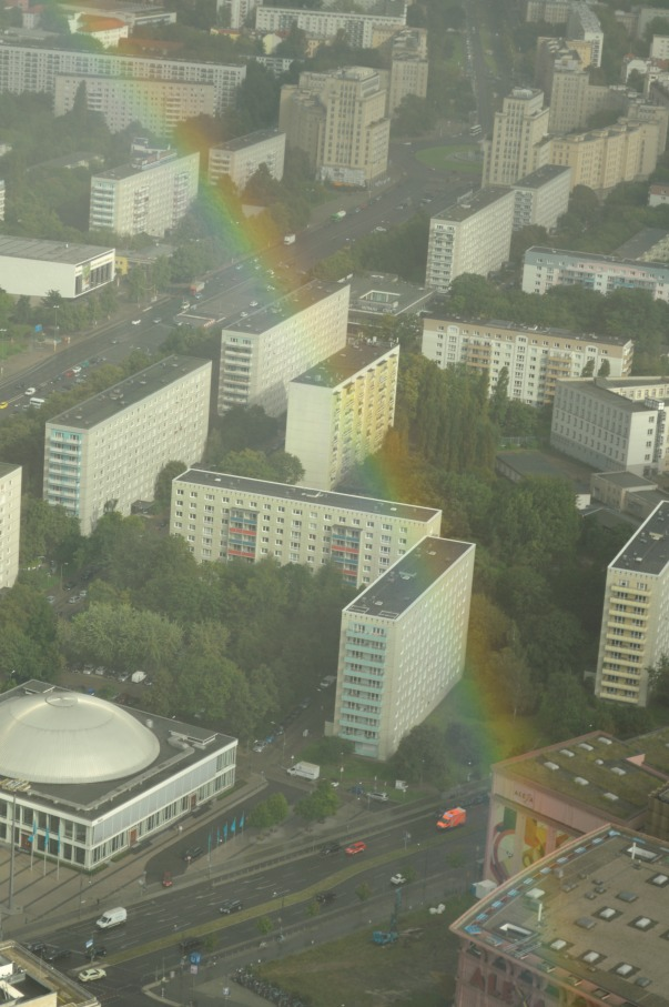 fotos from TV tower berlin with rainbow