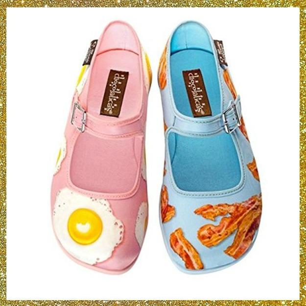 Eier und Speck Schuhe Kitsch