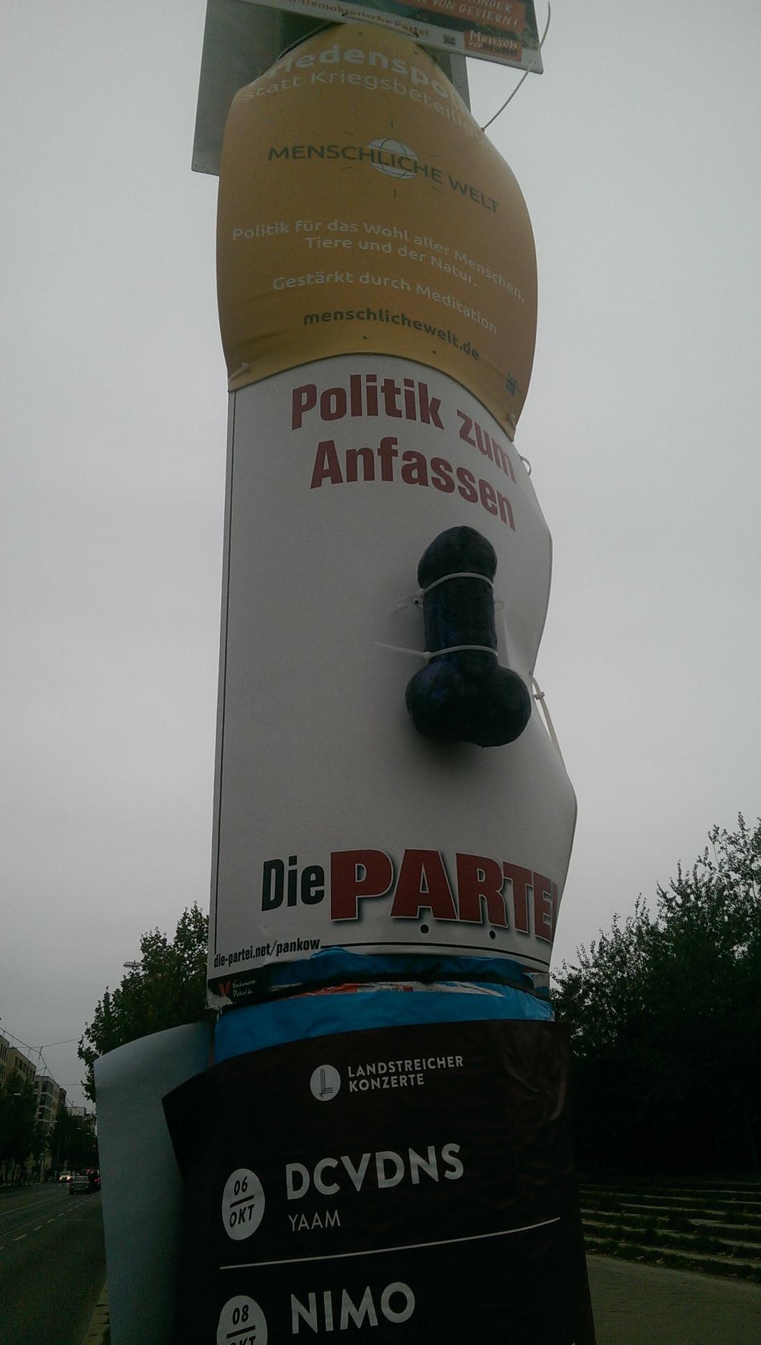 Die Linke Wahlplakat kitsch