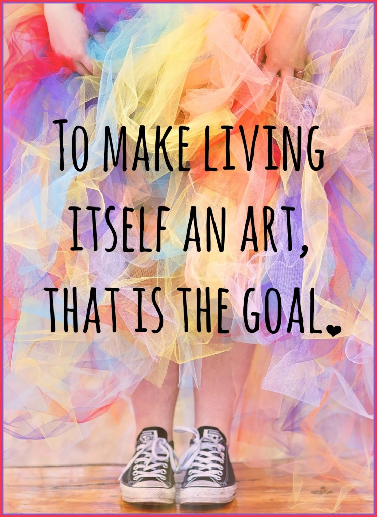 be kitschig quote Henry Miller Live Life artist
