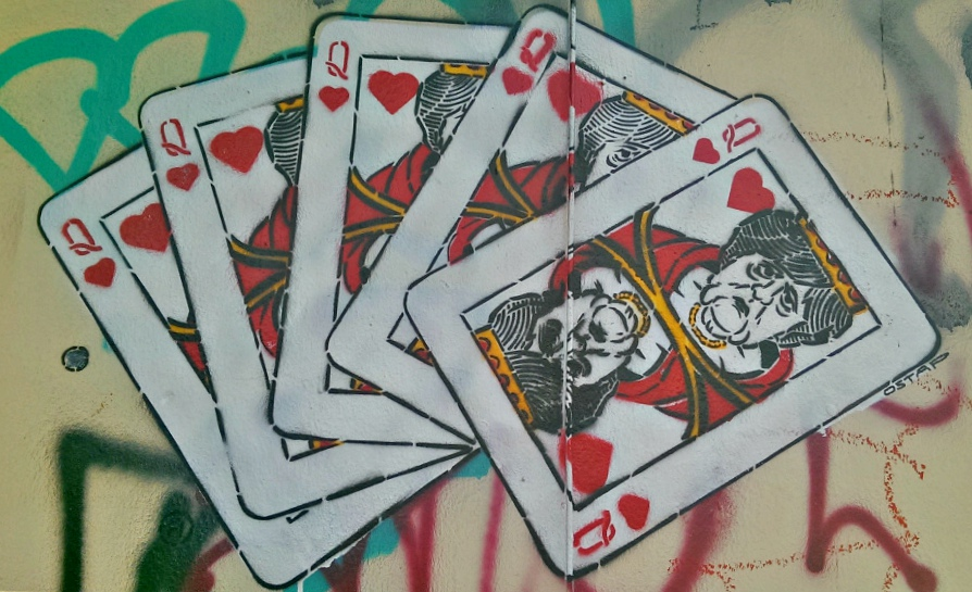 street art #Berlin Angela Merkel kitschig cards