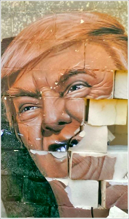 Trump street art malta be kitschig blog