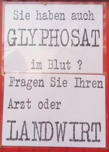 Glyphosat Protest Brandenburg be kitschig blog