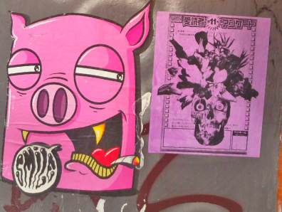 Street Art Berlin Smile pig be kitschig blog strassenkunst