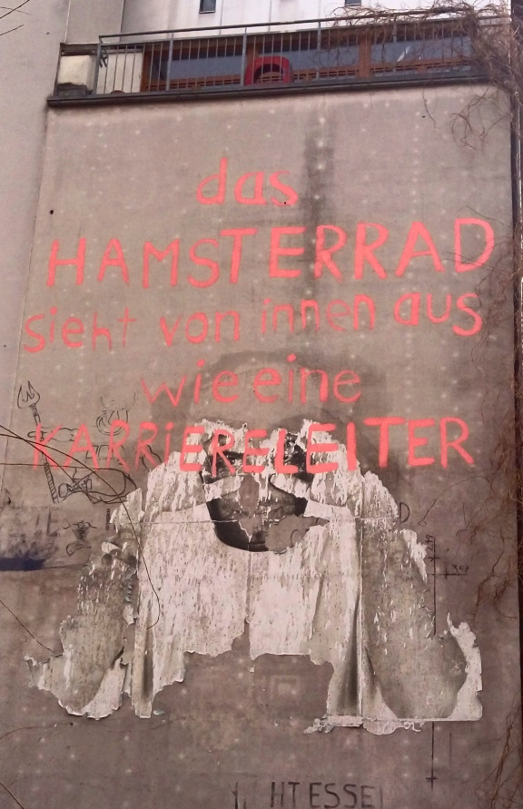 hamster wheel career #berlin #streetart