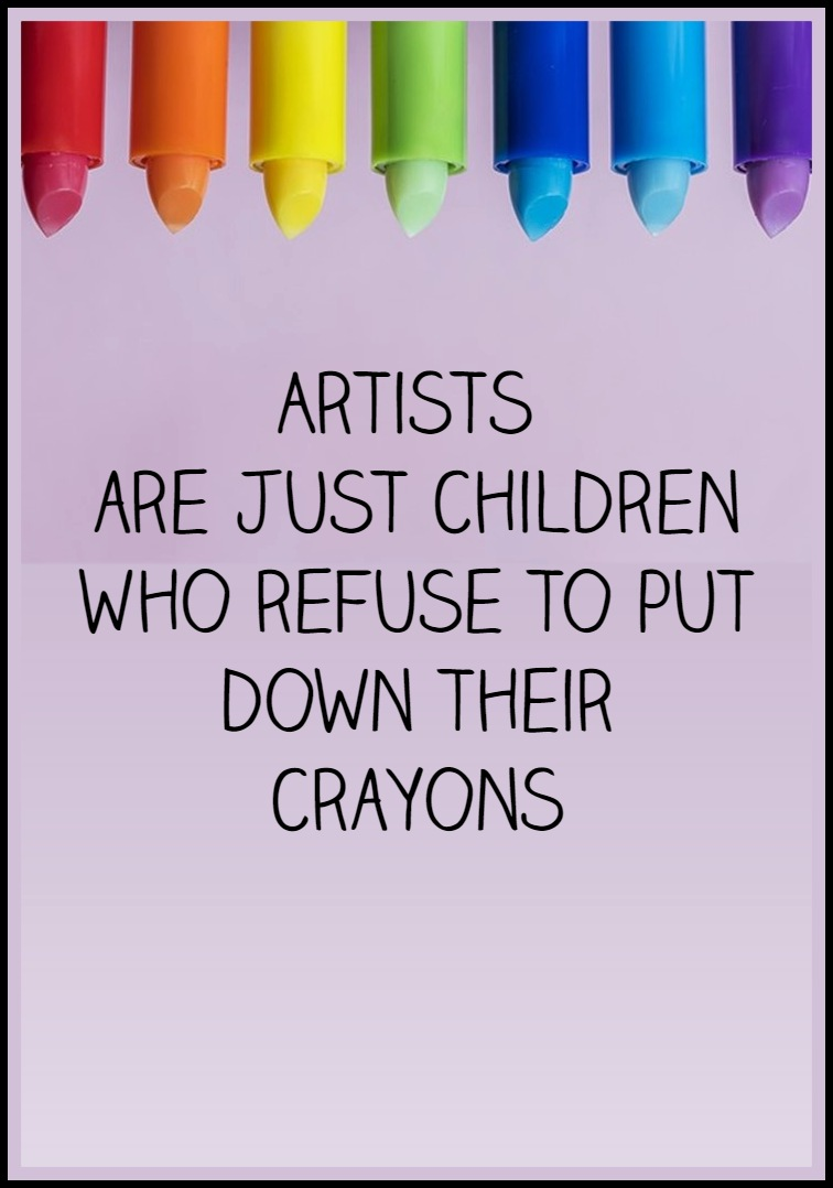 Artists are just children who refuse to put down their crayons #quote Al Hirschfeld cartoon artist RIP