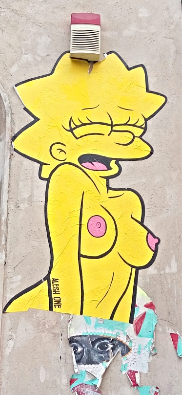 #simpsons #sexy #kitsch Lisa #Simpsons naked #art