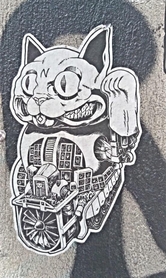 #bekitschig #kitschig #cat #katze #streetart #berlin