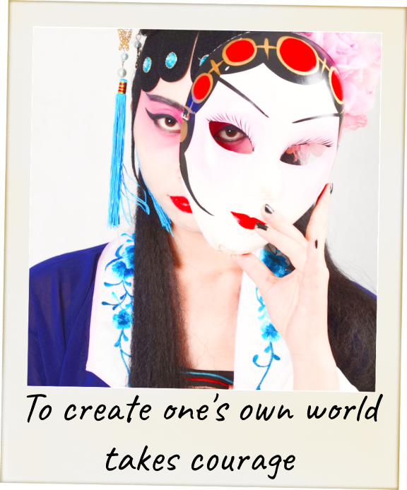 To create ones own world takes courage #quote #o'keeffe be kitschig