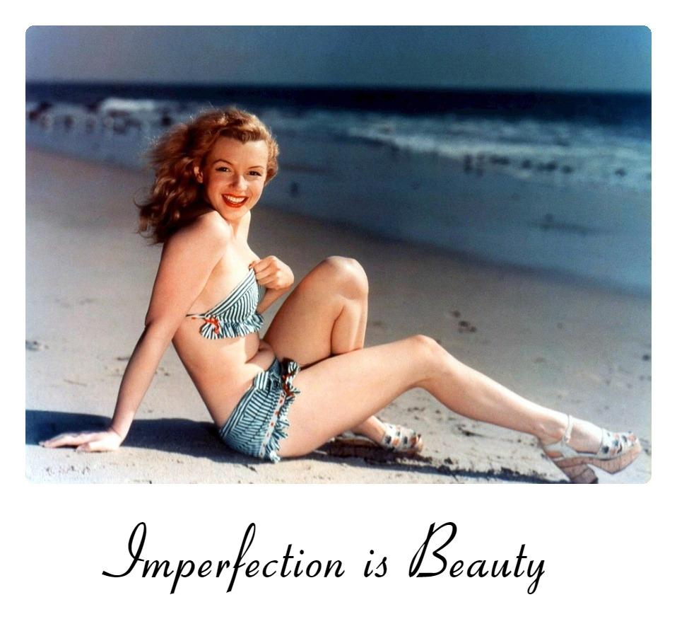 #quote #beauty Marilyn Monroe Imerfection is beauty be kitschig blog berlin