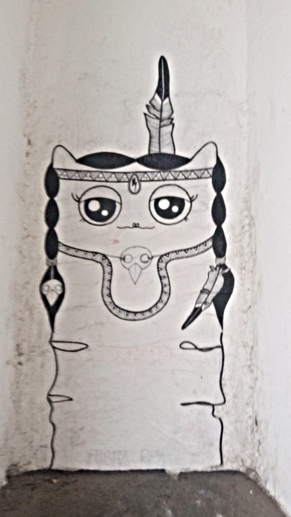 cute kitty streetart berlin