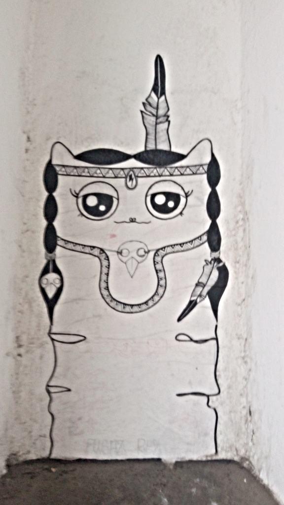 cute kitty streetart berlin