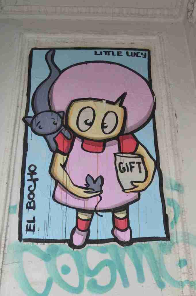 Little Lucy, El Bocho streetart urbanart berlin Strassenkunst