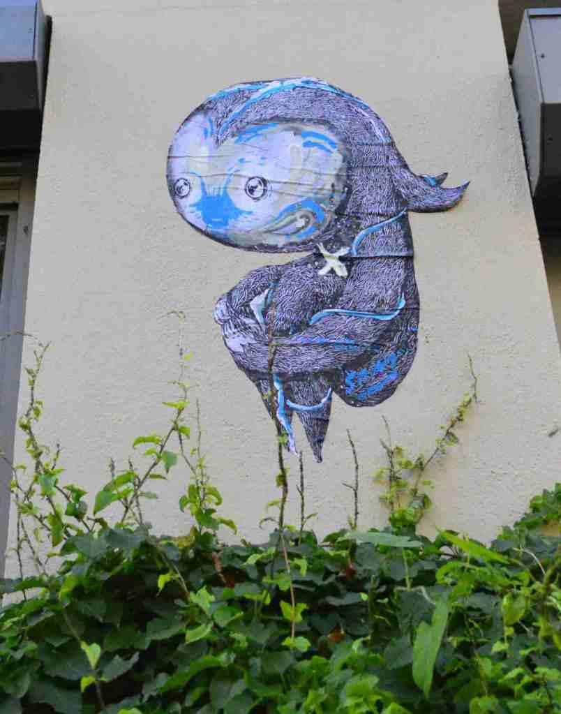 Sam Crew street art berlin pasteup urbanart
