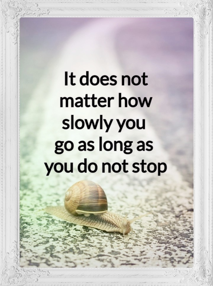 It does not matter how slowly you go as long as you do not stop. #quote #confucius #konfuzius be kitschig blog