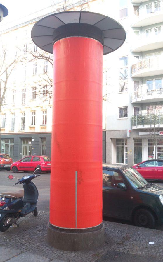 Litfaßsäule Berlin No news today be kitschig blog