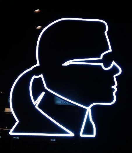 Karl Lagerfeld Neon Sign