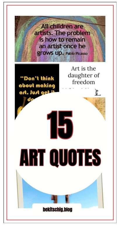 be kitschig blog 15 Art Quotes