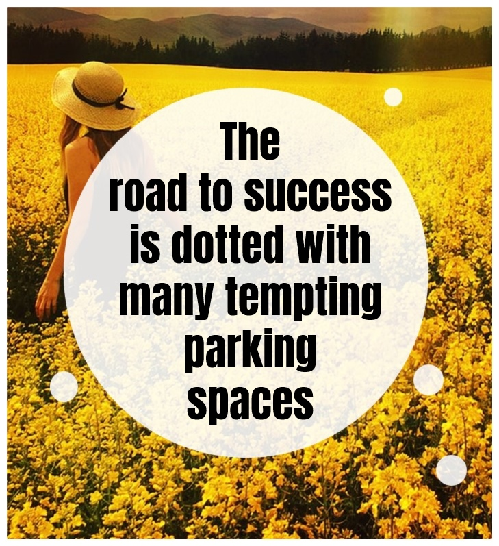 The road to success is dotted with many tempting parking spaces. Will Rogers be kitschig blog