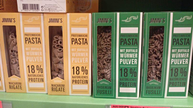 Worm pasta protein würmer pasta