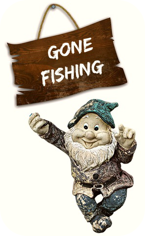 gone fishing gnome be kitschig blog