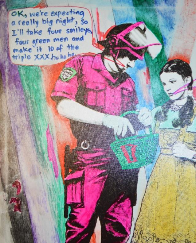Bansky Homage Cole Larsen Painting be kitschig blog