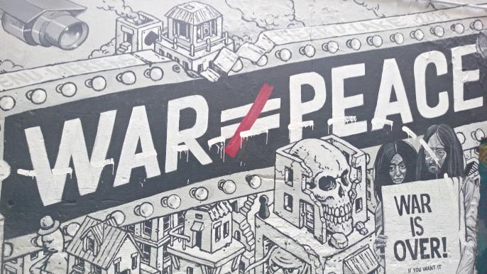 mural hackescher markt war is over John Lennon and Yoko