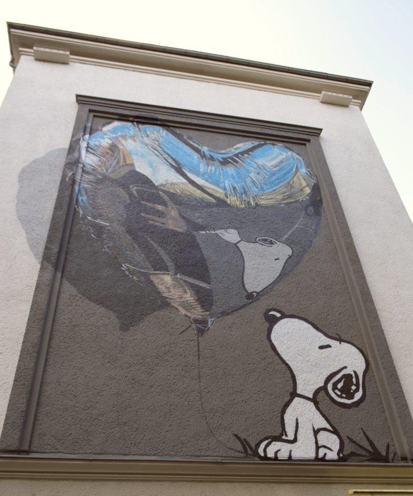 In Dog WE Trust Mural Wandbild Street art Berlin Schwedter Strasse Prenzlauer Berg #snoopy #art