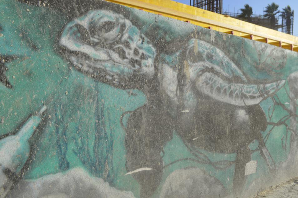 Street art in Malta Bugibba mural grafitti justinks be kitschig blog turtle ocean